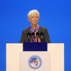 International Monetary Fund (IMF) Managing Director Christine Lagarde speaks at the opening ceremony for the China International Import Expo in Shanghai, Monday, Nov. 5, 2018. (Aly Song/Pool Photo via AP)