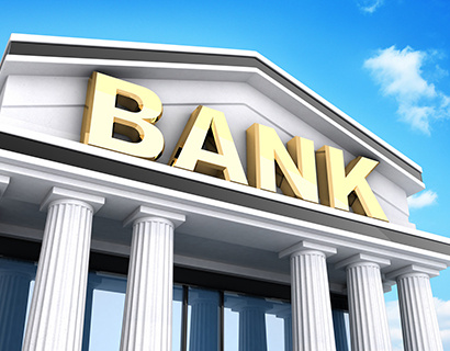 Building and sign bank (done in 3d)